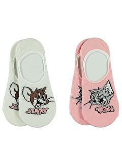 Tom And Jerry Tom And Jerry Kız Çocuk 2'li Babet Çorap 3-11 Yaş Somon Tom And Jerry Kız Çocuk 2'li Babet Çorap 3-11 Yaş Somon